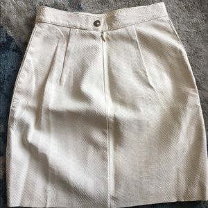 4ffba774c1 American Apparel Skirts - New W/ Tags! White Leather snakeskin miniskirt sXS
